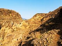 Montagne faisant du vélo au Népal Photographie stock libre de droits