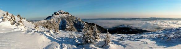 Montagne figée Image libre de droits