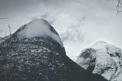 Montagne figée Images libres de droits