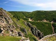 Montagne française en Nouvelle-Écosse Image libre de droits