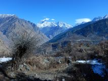 Montagne froide dans uttranachal-3 photos stock