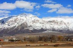 Montagne fronte di Wasatch Immagini Stock