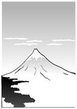 Montagne Fuji, illustration japonaise d'art Photos stock