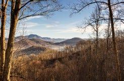 Montagne fumose Immagini Stock