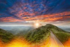 Montagne gentille avec la couleur gentille de la BG Photos stock