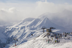 Montagne, Georgia, Gudauri immagini stock libere da diritti
