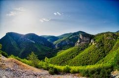 Montagne in Grecia Fotografie Stock Libere da Diritti