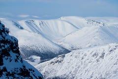 Montagne Hibiny all'inverno Fotografia Stock Libera da Diritti
