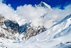 Montagne himalayane e campo base Fotografia Stock Libera da Diritti