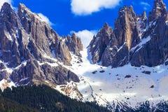 Montagne impressionanti delle dolomia, Italia Fotografia Stock Libera da Diritti