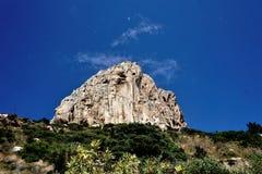Montagne impressionnante d'Ifac dans Calpe, Espagne Photographie stock