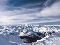 Montagne innevate Fotografie Stock