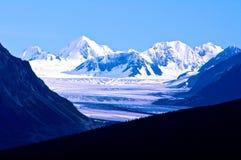 Montagne innevate del Yukon Immagini Stock