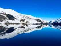 Montagne innevate di Lingua gallese vicino a Snowdonia Galles Fotografia Stock Libera da Diritti