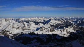 Montagne innevate nel Bernese Oberland Fotografia Stock