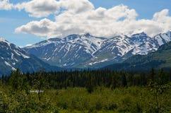 Montagne innevate nell'Alaska immagine stock