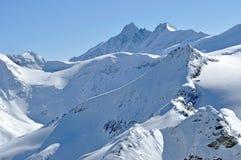 Montagne innevate nelle alpi austriache Immagine Stock Libera da Diritti
