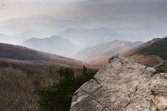 Montagne intorno a Gwangju Fotografia Stock