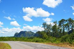 Montagne intorno a Puerto Esperanza, Cuba Fotografie Stock
