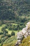 Montagne irlandesi coperte in alberi di alcune rocce Immagine Stock Libera da Diritti