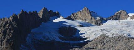 Montagne irregolari Fusshorn e Rotstock Fotografia Stock