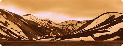 Montagne in Islanda di estate 1 Immagini Stock