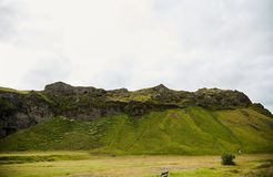 Montagne islandesi paesaggio, fondo fotografia stock libera da diritti