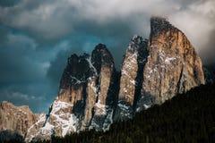 Montagne italiane delle alpi delle dolomia Immagini Stock Libere da Diritti