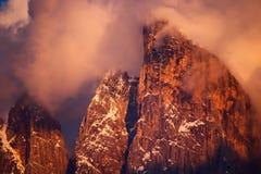 Montagne italiane delle alpi delle dolomia Immagine Stock