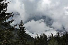 Montagne italiane delle alpi delle dolomia Fotografie Stock Libere da Diritti