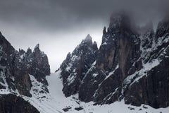 Montagne italiane delle alpi delle dolomia Fotografia Stock