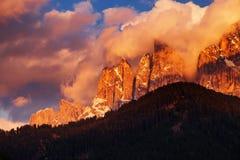 Montagne italiane delle alpi delle dolomia Immagine Stock Libera da Diritti