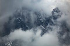 Montagne italiane delle alpi delle dolomia Fotografie Stock