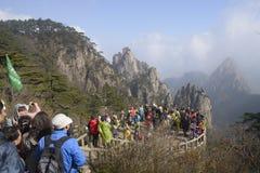 Montagne jaune, Chine Photo stock