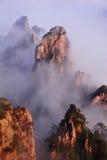 Montagne (jaune) de Huangshan Photographie stock