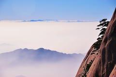 Montagne (jaune) de Huangshan Image libre de droits