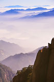 Montagne (jaune) de Huangshan Photo stock