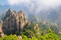 Montagne jaune (Huang Shan) Images libres de droits