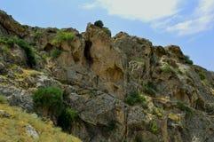 Montagne, Kadamzhai, Kirghizistan Fotografie Stock Libere da Diritti