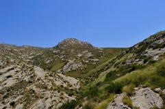 Montagne, Kadamzhai, Kirghizistan Immagine Stock