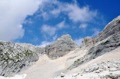 Montagne Kanin dans les Alpes de Julian Image libre de droits
