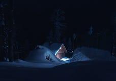 Montagne la nuit 01 Photographie stock libre de droits