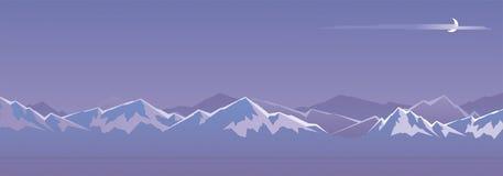 Montagne la nuit illustration stock