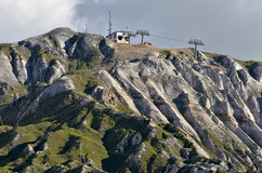 Montagne a La Plagne in Francia Fotografia Stock