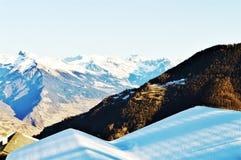 Montagne in La Tzoumaz Immagine Stock Libera da Diritti