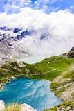 Montagne, laghi e pace fotografia stock libera da diritti