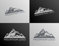 Montagne Logo Symbol Icon Isolated Vector Images stock