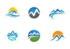 Montagne Logo Template Photos stock
