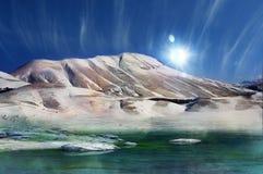 Montagne magique d'hiver photographie stock