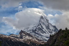 Montagne Matterhorn, Zermatt, Suisse Photographie stock libre de droits